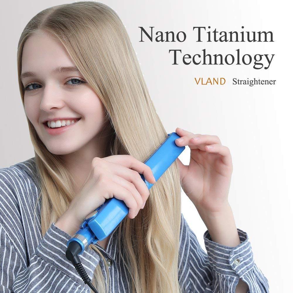 2 em 1 nano titânio profissional alisador de cabelo ferro liso curling ferros curlers eua/ue/au/uk plug elétrica ferramenta penteado