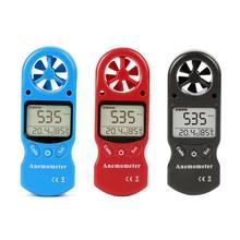 Мини цифровой анемометр ручной термометр с ЖК дисплеем температура