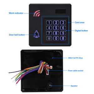 Image 5 - IP68 방수 액세스 제어 시스템 야외 RFID 키패드 WG26 액세스 컨트롤러 키보드 방수 10 EM4100 Keyfobs 홈