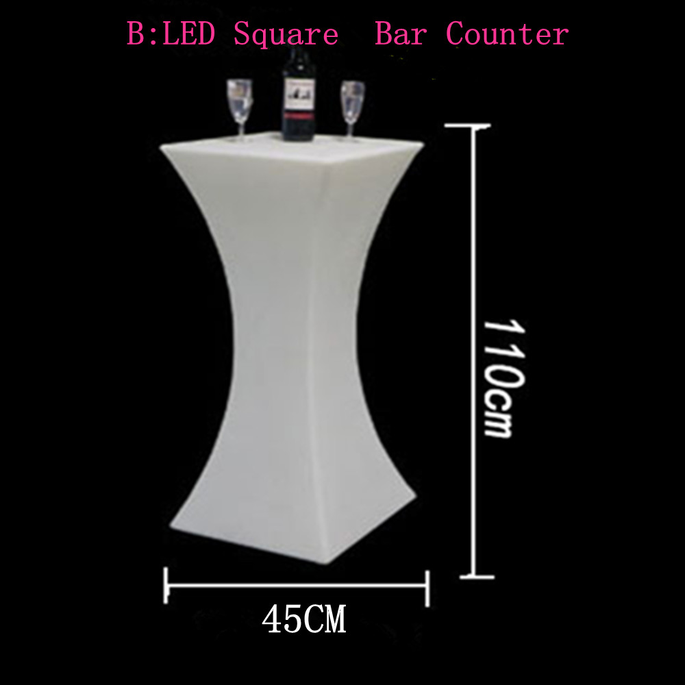 (L60*W60*H110cm) Rechargeable LED Cocktail Table Growing Commercial Furniture  Event Party Decorations Supplies