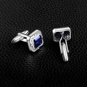 Image 3 - Jewelrypalace Mens Created Sapphire Anniversary Engagement Wedding Cufflinks  925 Sterling Silver