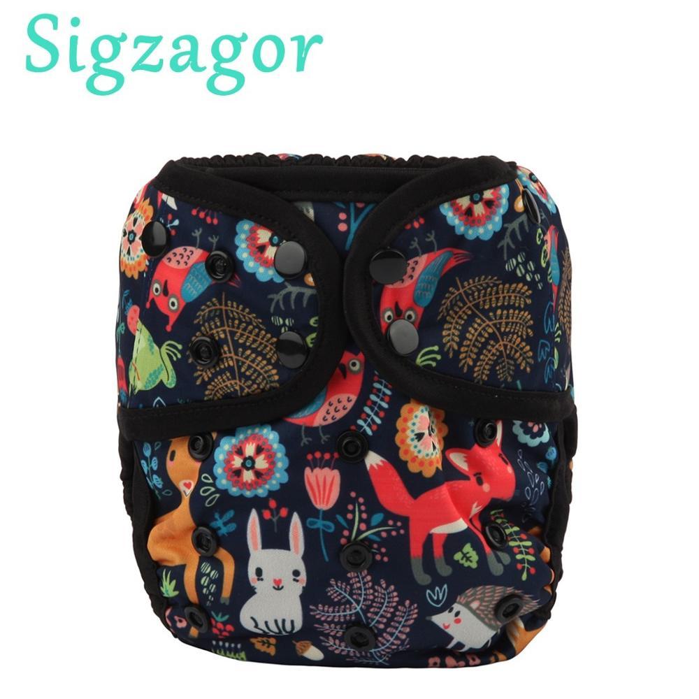 [Sigzagor]1 OS один размер детская ткань пеленки крышка подгузник водонепроницаемый двойная ластовица 4-13 кг 40 дизайн