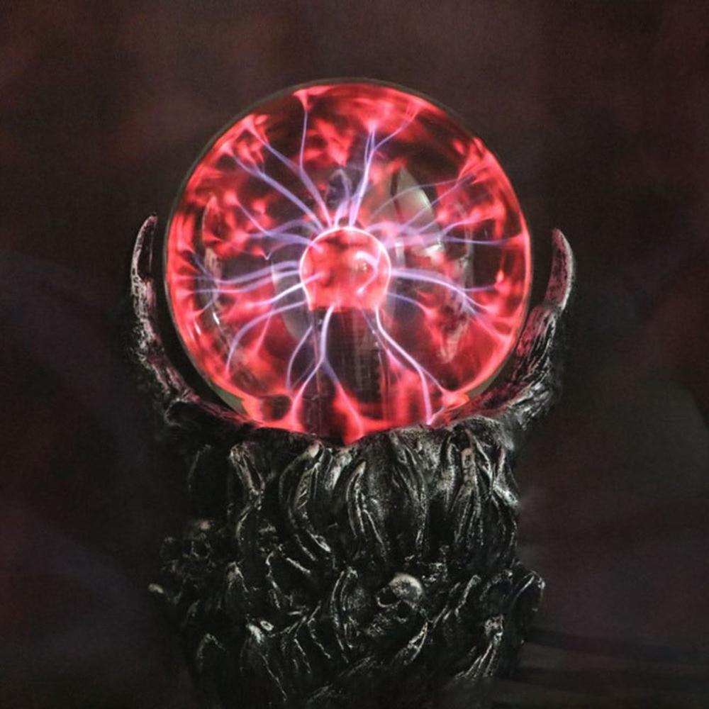 Creative Skeleton Hand Design Electrostatic Ion Magic Ball Touch Sensor Glass Light Ball Decoration Plasma Ball
