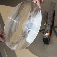 300 мм большой оптический PMMA пластиковый большой солнечный объектив Френеля фокусное расстояние 120 220 400 360 мм Солнечный концентратор увеличительное стекло 1 шт