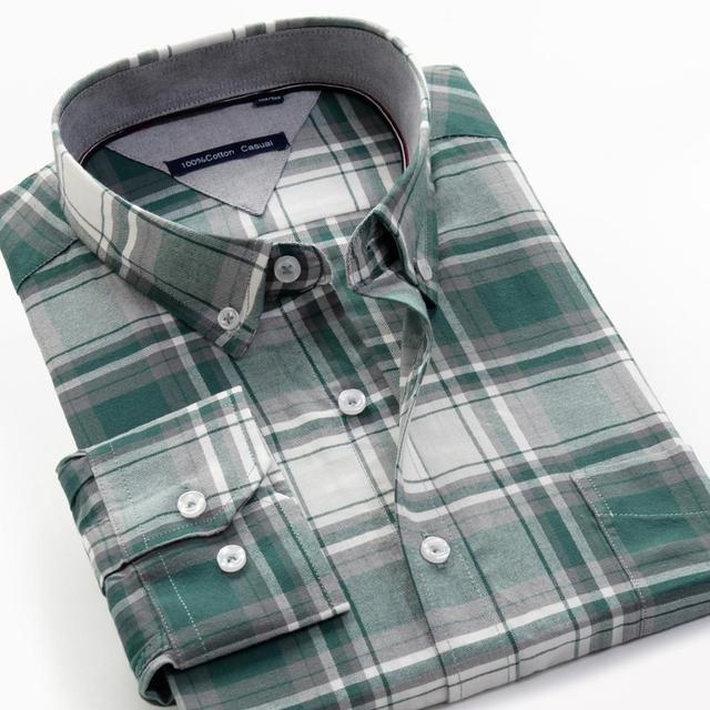 حجم كبير 5XL 6XL 7XL 8XL 9XL 10XL 2020 الرجال طويلة الأكمام 100% تي شيرتات قطن الأعمال فضفاض عادية قمصان مربعة النقش الذكور ماركة الملابس