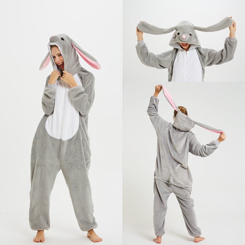 2019 Animal Anime Onesie Kigurumi Adult Men Women Unicorn Sleepwear Pajama Soft Cute Rabbit Unicornio Pijima Nightwear Overall