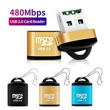 ANMONE-Mini lector de tarjetas de memoria para teléfono móvil, microSD/lector de tarjetas TF USB 2,0, adaptador USB de alta velocidad para accesorios de ordenador portátil