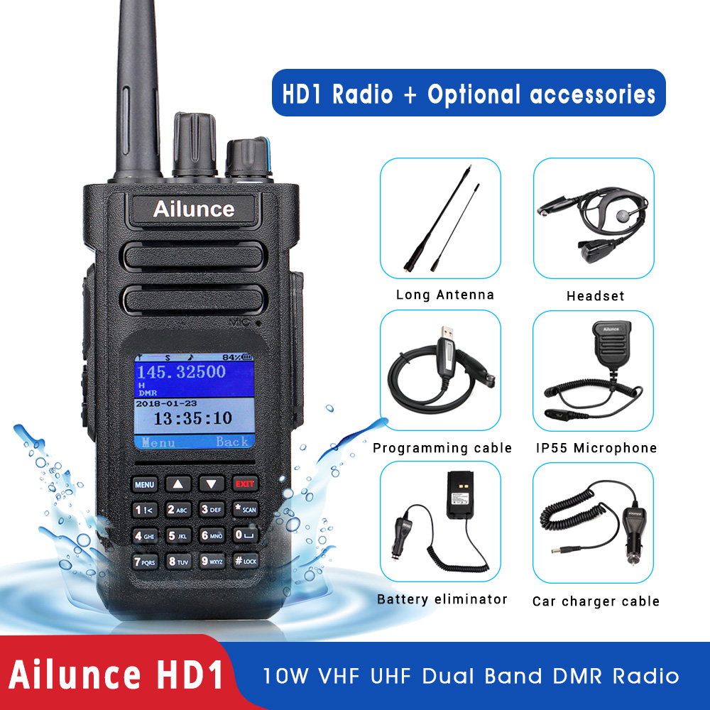 RETEVIS Walkie-Talkie Radio-Communicator Ham-Radio UHF DMR Dual-Band Amateur Digital