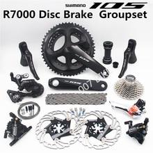 SHIMANO R7000 Groupset 105 A8000 przerzutki hamulców tarczowych rower szosowy R7000 shifter FC 53 39T 50 34T 52 36T CS 25T 28T