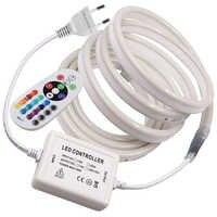 220 v 110 v tira conduzida rgb neon flex rope luz impermeável ip68 led fita tv dimmer fita flexível para iluminação ao ar livre ue/reino unido/au/eua
