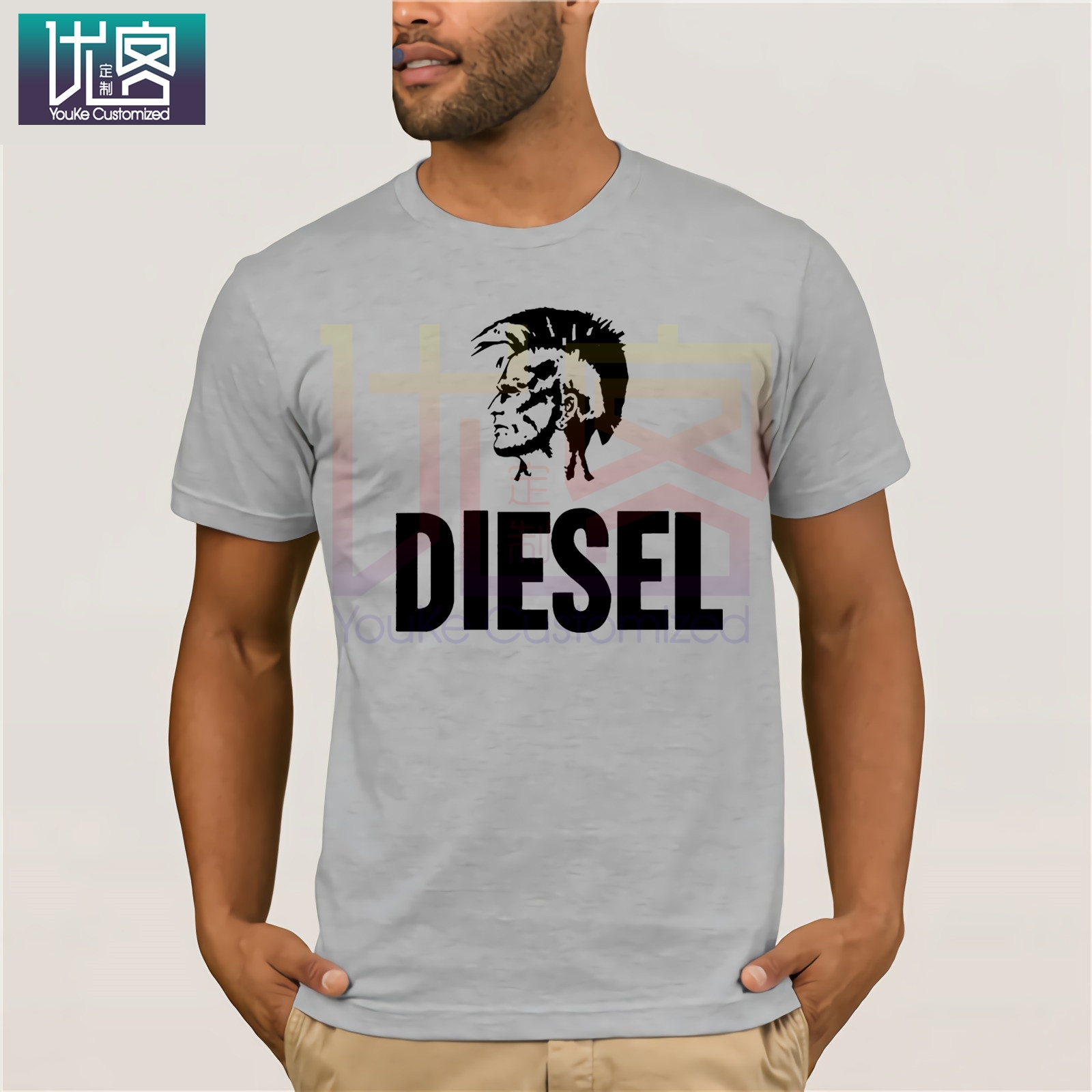 2020 NEW Men S Diesel T Shirt Print 100 Cotton Euro Size S 3xl Unique Loose Casual Spring Top Tee Casual Short Sleeve Top