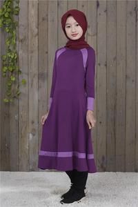 Image 5 - Muslim Long Sleeve Dress For Girl Child Kid Abaya Islamic Dubai Arabic Robe Gowns Traditional Clothing