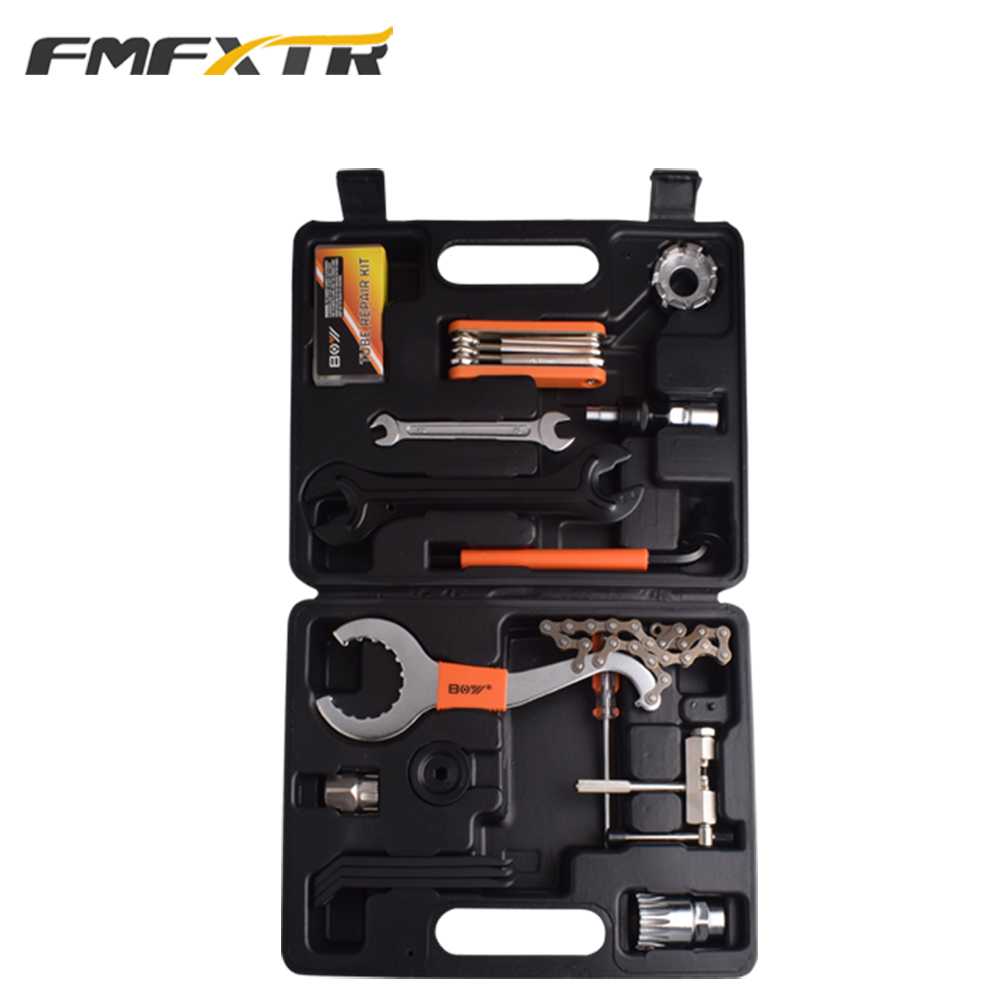 FMFXTR Mountain bike tool set combination bicycle toolbox loading repair repair portable tire repair maintenance car repair