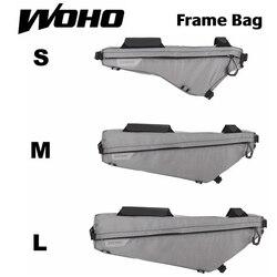 """WOHO """"XTOURING"""" BIKEPACKING ultralekka torebka na ramę żelazna szara  rowerowe torby rowerowe do MTB ROAD w Torby i sakwy rowerowe od Sport i rozrywka na"""
