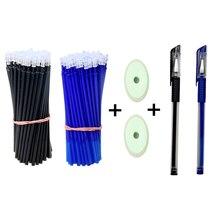 50 pcs/set Erasable Gel Pen Refills Rod 0.5mm Washable Handle Magic Erasable Pen for School Pen Writing Tools YMZ Stationery