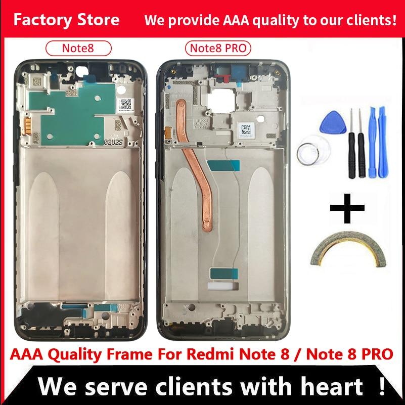 Качественная средняя рамка AAA для Xiaomi Redmi Note 8 средняя рамка Корпус крышка для XIAOMI Redmi Note 8 PRO металлическая рамка