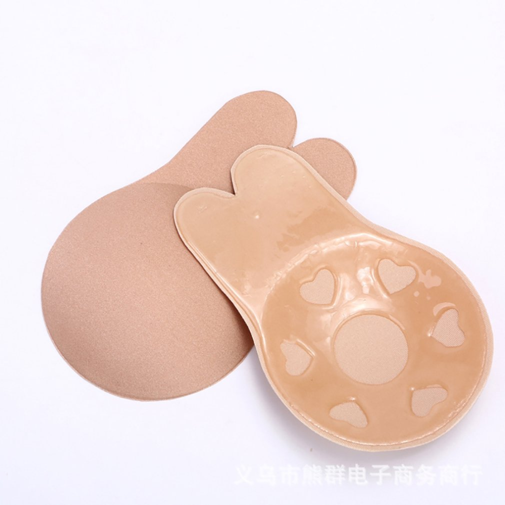 Rabbit Ear Self Adhesive Push Up Bra Women Sticky Invisible Silicone Strapless Backless Bras Bralette Underwear