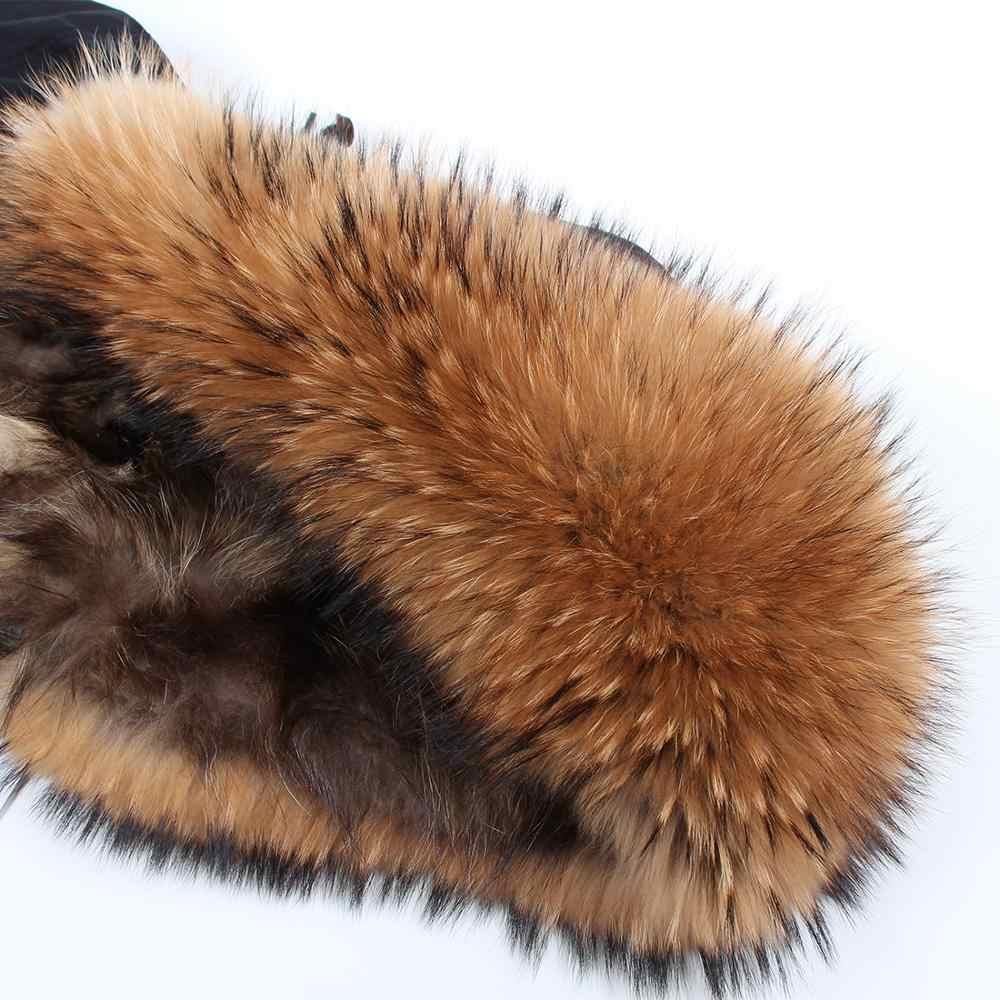 ธรรมชาติซับขนสัตว์ Parka กันน้ำจริง FUR Coat แจ็คเก็ตฤดูหนาวผู้หญิงธรรมชาติ Raccoon ขนหนา Parkas