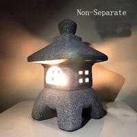 Styl japoński imitacja kamienia lampa mała wiatr ozdoby ogrodowe świeczki dekoracja ogrodowa w Posągi i rzeźby od Dom i ogród na