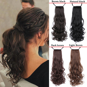 AILIADE Long wavy Clip In Hair Tail False Hair Ponytail Hairpiece With Hairpins Synthetic Hair PonyTail Hair Extension