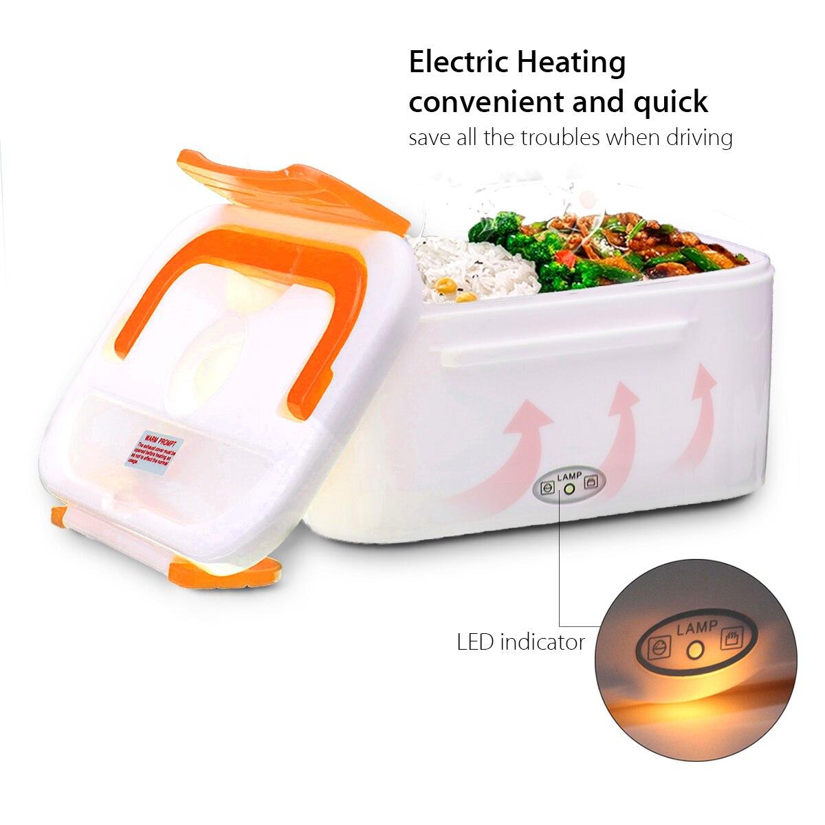 Электрическая нагревательная автомобильная коробка для ланча 12 В портативная коробка для хранения еды бенто контейнер для подогрева еды д...