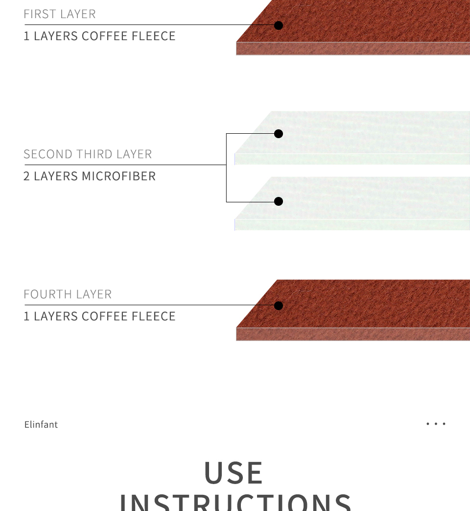 Coffee Fiber Diaper Inserts Set