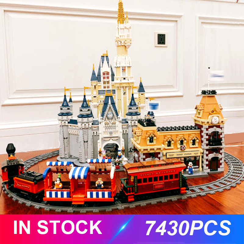 The Fairytale Castle And Train Station Compatible 71040 71044 Building Blocks Bricks Educational Toys Birthdays Gifts