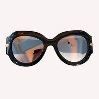 Oval Sunglasses For Women Vintage Brand Designer Wide Leg Sunglasses lentes de sol hombre