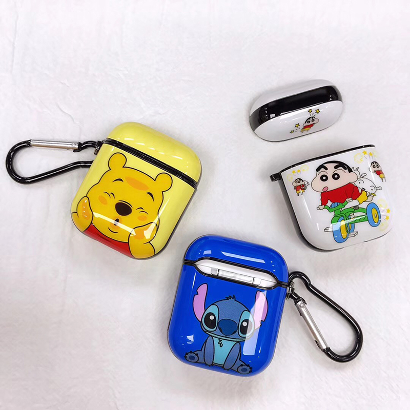 Image 5 - Hot Painted Stitch Soft Silicone Wireless Earphone Charging Cover Bag for Apple AirPods 1 2 cute bear Bluetooth Box Headset case-in Earphone Accessories from Consumer Electronics
