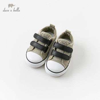 DB12844 Dave Bella spring autumn baby boy canvas shoes new born baby boy casual khaki shoes image