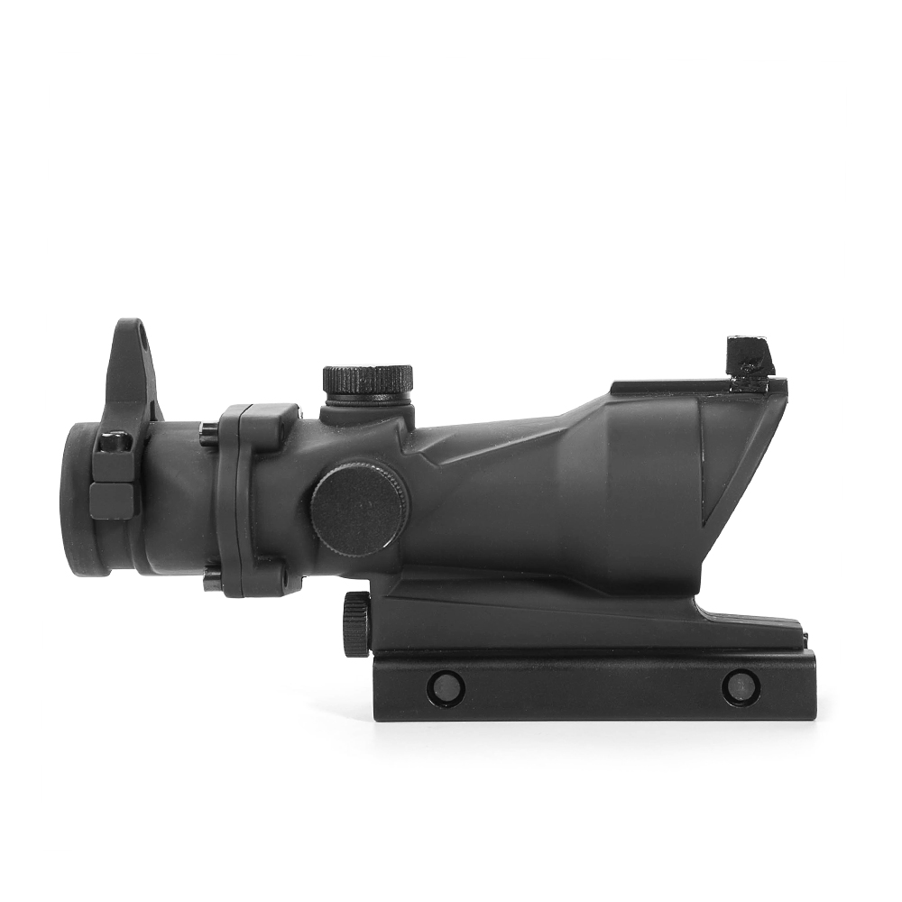 Image 2 - LUGER Hunting Optical Scope ACOG 1X32 Tactical Red Green Dot Sight Illuminated Rifle Scope With 20mm Rail For Airsoft Gun-in Riflescopes from Sports & Entertainment