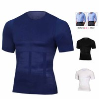Mens Slimming Shaper Posture Vest Male Belly Abdomen...