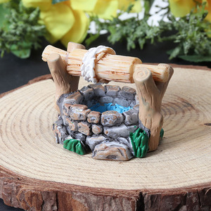Image 5 - 1 قطعة Garden بها بنفسك حديقة المنمنمات الديكور Vintage منزل بئر ماء متعدد الألوان الجنية حديقة حفلة صغيرة بونساي حلية 34*27 مللي متر