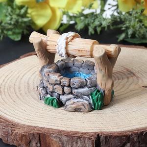Image 5 - 1pc DIY ガーデンミニチュア装飾ヴィンテージハウス水よく多色妖精ガーデンパーティーミニ盆栽飾り 34*27 ミリメートル