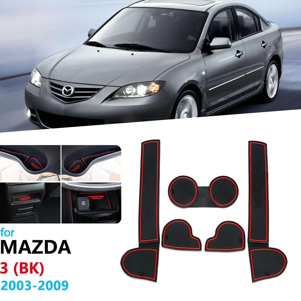 Anti-Slip Rubber Gate Slot Cup Mat For Mazda 3 BK 2003 2004 2005 2006 2007 2008 2009 MK1 Mazda3 MPS Door Groove Mat Coaster