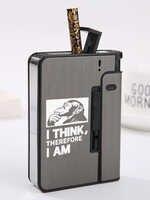 Caja de cigarrillos de plástico de aleación de aluminio, 10 palos, regalo para fumar con palabras en inglés para novio, logotipo personalizado con nombre láser