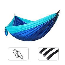Outdoor Leisure Double Person Nylon Hammocks Ultralight Camping Hammock with Backpack Adult Outdoor Travel Survival Hunting