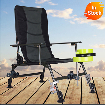Folding Chair Oversized Steel Frame Collapsible Padded Arm Chair with Back Chair Portable for Outdoor
