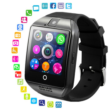 Smart Watch Clock Q18 SmartWatch Support Sim TF Card Phone Call Push Message Camera Bluetooth Sport Watches For Android IOS Hour new smart watch men women sim tf card support bluetooth call music smart clock sleep monitoring for ios android smartwatch