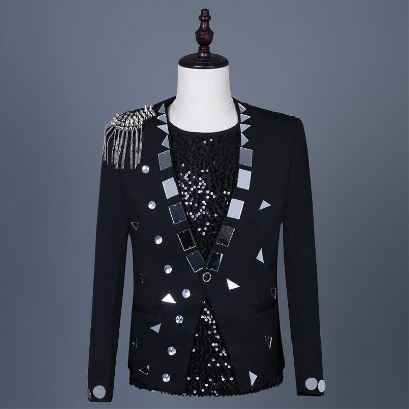 Men's Atmosphere Suit Gold Lens Nightclub Men's Dj Bar DS Men's Singer Stage Pack Rock Men's Performance Suit