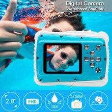 Ouhaobin, водонепроницаемая цифровая камера, Детская цифровая камера, HD подводная экшн-видеокамера, 2,0 дюймов, для водных видов спорта, для мальчиков и девочек
