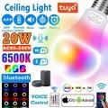 20 Вт Wi-Fi/ИК-пульт дистанционного управления Управление умный светильник лампочка цветная (RGB) Светодиодная лампа Ночной светильник работать...