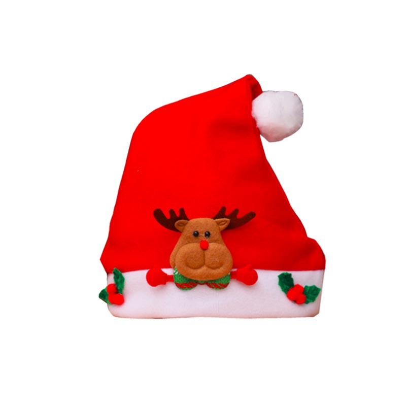 Cute Santa Snowman Reindeer Kids Christmas Hat Christmas Gifts For Child Lovely Kids Christmas Glasses For Party