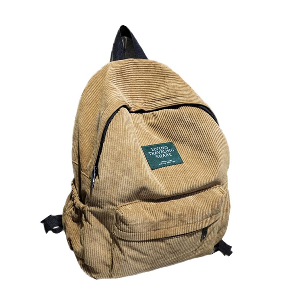 High Capacity Bags Velvet Backpacks Student Teenagers Vintage Travel Bag Pack Corduroy Backpack Sack Pocket Zipper Backpack