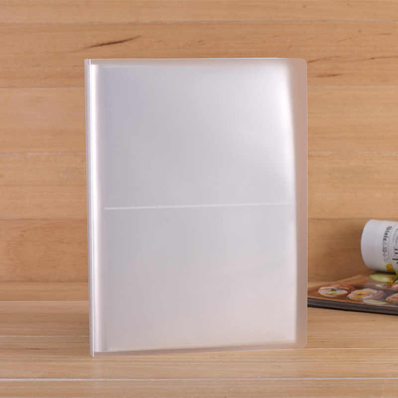 PP Pure Frosted Simple Cover Transparent Insert Type 5R 7 Inch PP Photo Album/postcard Book Write Collection 80 Photos kid gifts