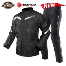 SCOYCO wodoodporna kurtka motocyklowa mężczyźni Chaqueta Moto kombinezon motocyklowy kurtka Motocross z wymiennym Linner ochrona Moto