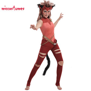 She-Ra Catra Cosplay Costume with Mask and Beast Ears Women Halloween Outfit(China)