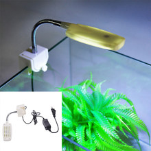 32 LED Aquarium Licht Clamp Clip Flexible White & Blue Beleuchtung Lampe(China)