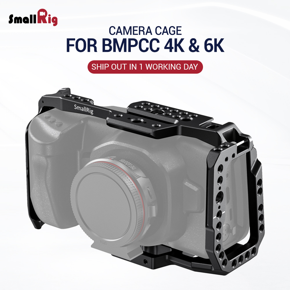 SmallRig BMPCC 4K / 6K Camera Full Cage For Blackmagic Design Pocket Cinema Camera 4K & 6K (New Version) 2203B