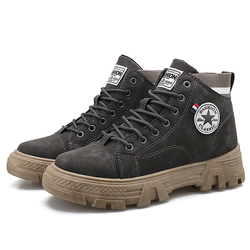 Fashion Hiking Boot,Classic Tooling Shoes,Trekking,Outdoor Shoes,Men's Mountain Boots,High Ankle,Big Size 39-44